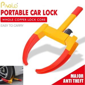 Pivalo PVATWL1 Universal Anti Theft Car Wheel Lock Clamp with Keys Tire Boot Claw for All Cars, Truck, and SUVs
