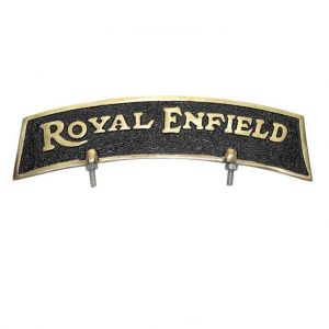 Brass Front Fender Plate Royal Enfield Bikes - Golden & Black
