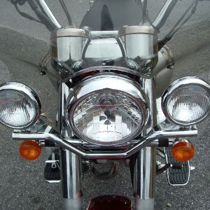 Heavy Stainless Steel Light Fitting Rod for Royal Enfield Bullet - Chrome