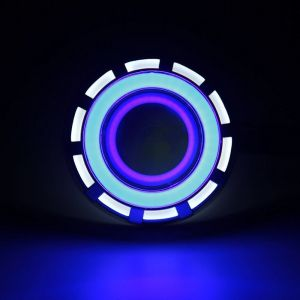 Projector Lamp LED Headlight for Motorcycles - Blue ,white and Red