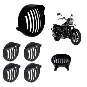 Headlight Grill Cap Combo Set For Bajaj Avenger (Indicator Set, Tail/Back Light Grill)